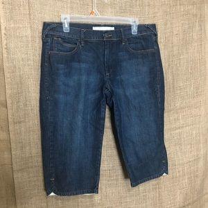Old Navy Capris SZ 12 Dark Wash Jeans Capri Length